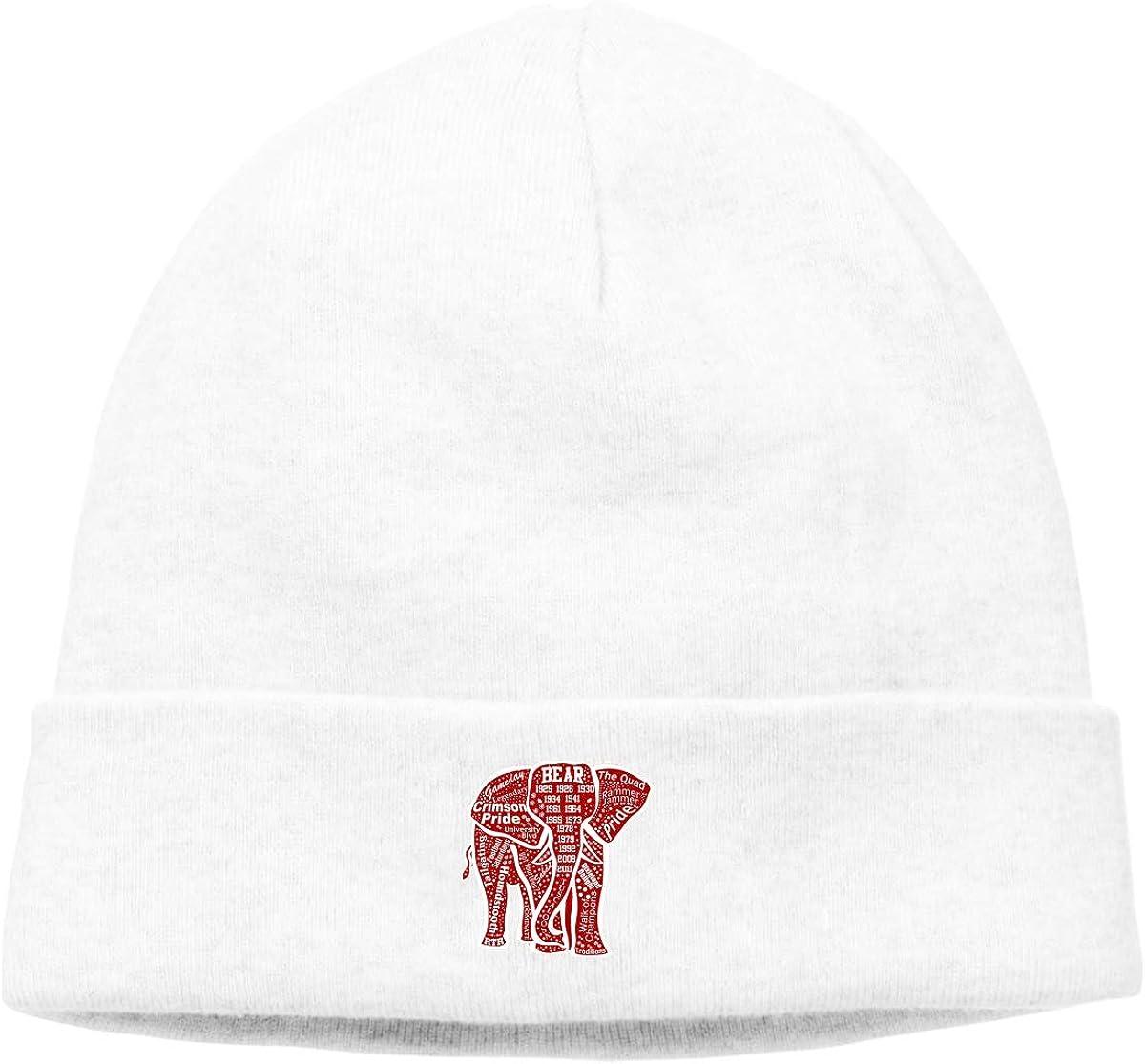 Alabama Red Elephant Unisex Cuffed Comfortbale Soft Slouchy Beanie Hat