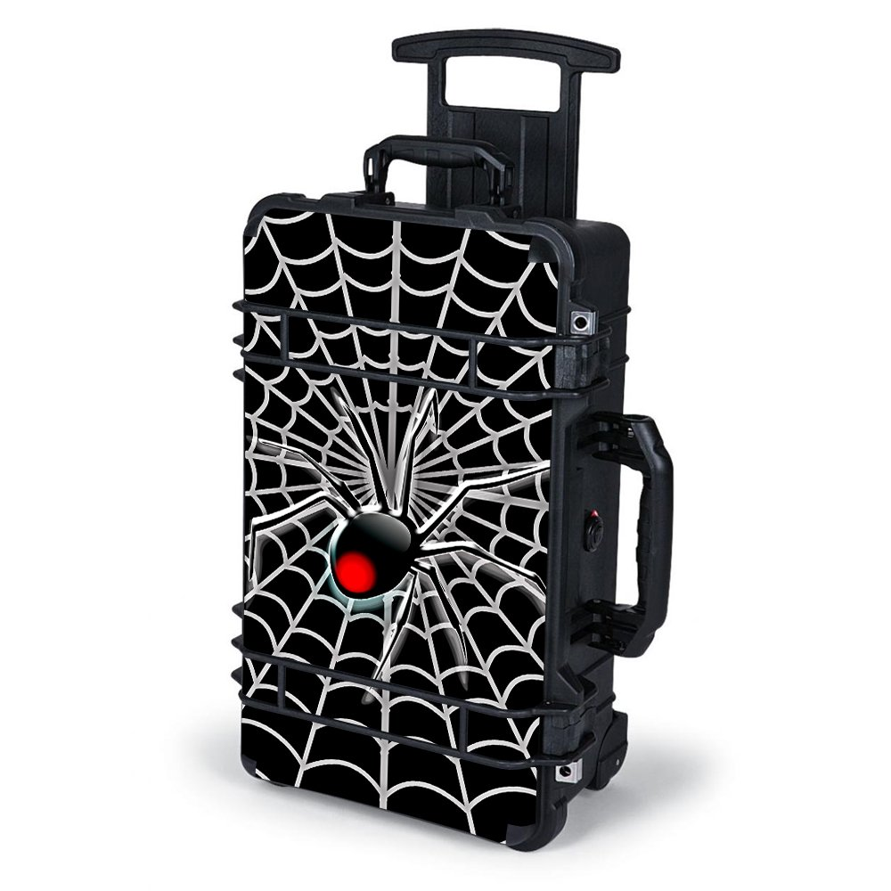Skin Decal Vinyl Wrap for Pelican Case 1510 Skins Stickers Cover / Black Widow Spider Web