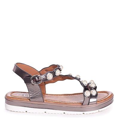 Linzi , Damen Sandalen schwarz schwarz, schwarz - schwarz - Größe: 35.5