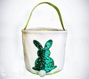 Amazon cylinder bunny easter basket by kishall color changing cylinder bunny easter basket by kishall color changing sequin easter basket bag for egg hunt negle Gallery