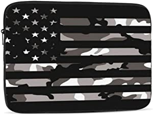 NFDF American Tactical Camo Flag Laptop Sleeve Bag - Evecase 17 Inch Neoprene Universal Sleeve Zipper Protective Cover Case for Notebook