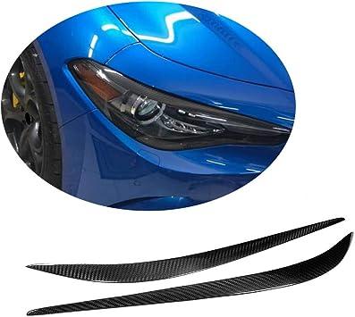 MCARCAR KIT Fits Alfa Romeo Giulia TI Quadrifoglio Sedan 2015 2016 2017 2018 Factory Dry Carbon Fiber Front Head Lamps Headlight Cover Eyelid Light Eyebrows