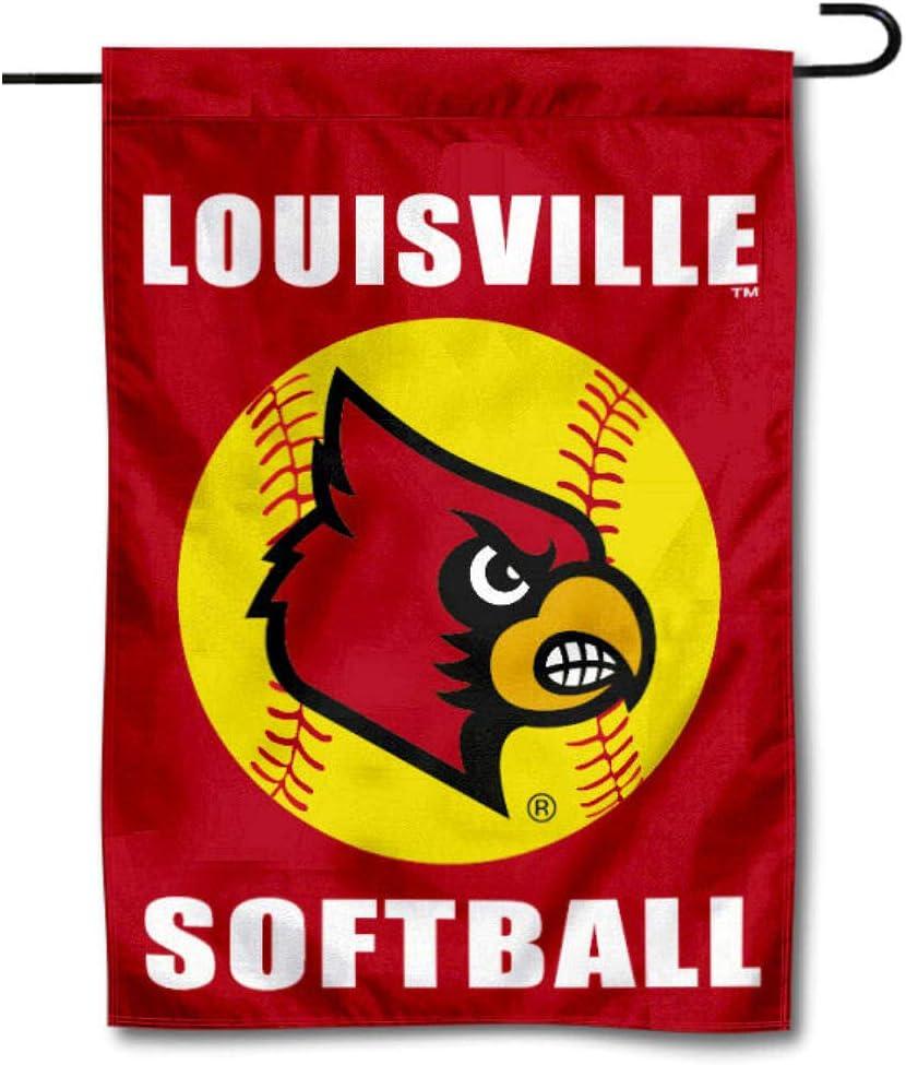 Louisville Cardinals Softball Garden Flag and Yard Banner