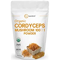Sustainably US Grown, Organic Cordyceps Mushroom Extract 100:1, 6 Ounce, Cordyceps...