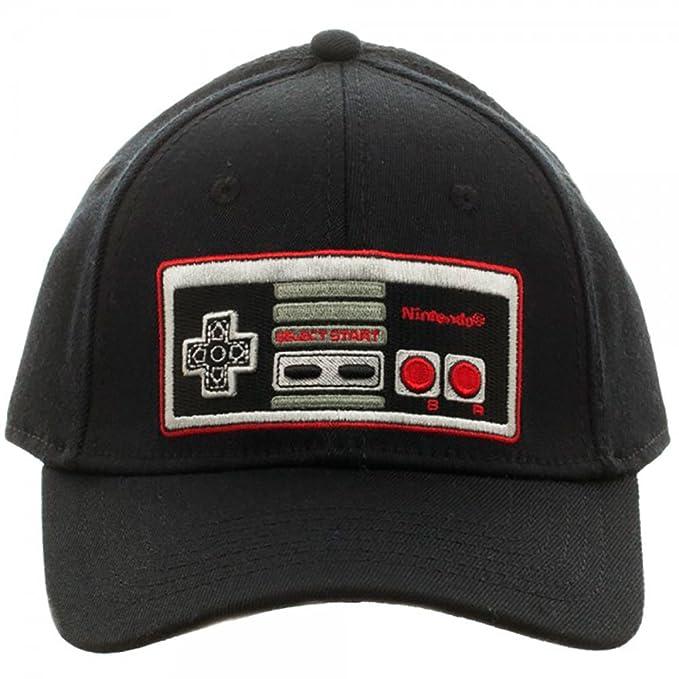 0550b5d661 Amazon.com  Nintendo Controller Black Flex Cap Baseball Hat  Clothing