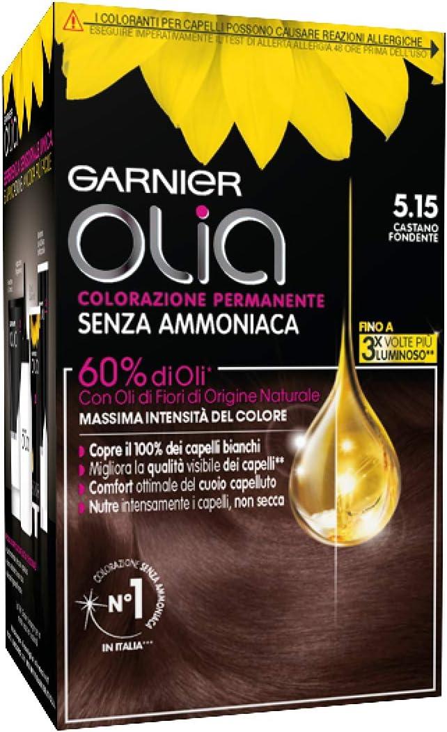 Coloración permanente y decoloración Garnier Olia 5.15 ...
