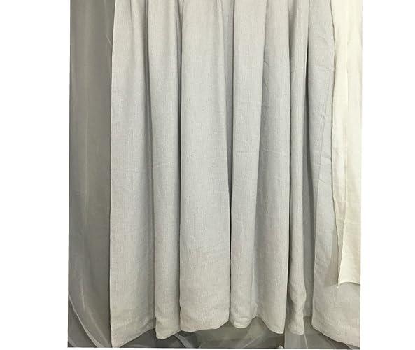 Stone Grey Ticking Stripe Shower Curtain Mildew Free 72x72 72x85 72x94