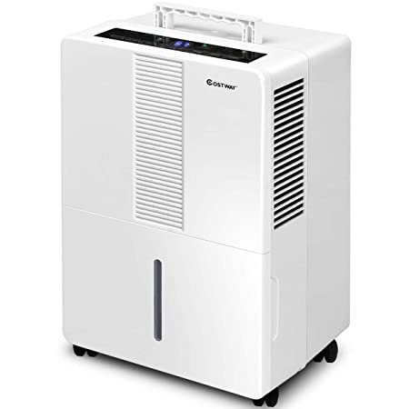 GOCOOL Portable Dehumidifier 50 Pint for Basements Bathrooms Rooms up to 3000 Sq.Ft. with Wheels and Drain Hose Outlet to Remove Odor and Allergens 50 Pint
