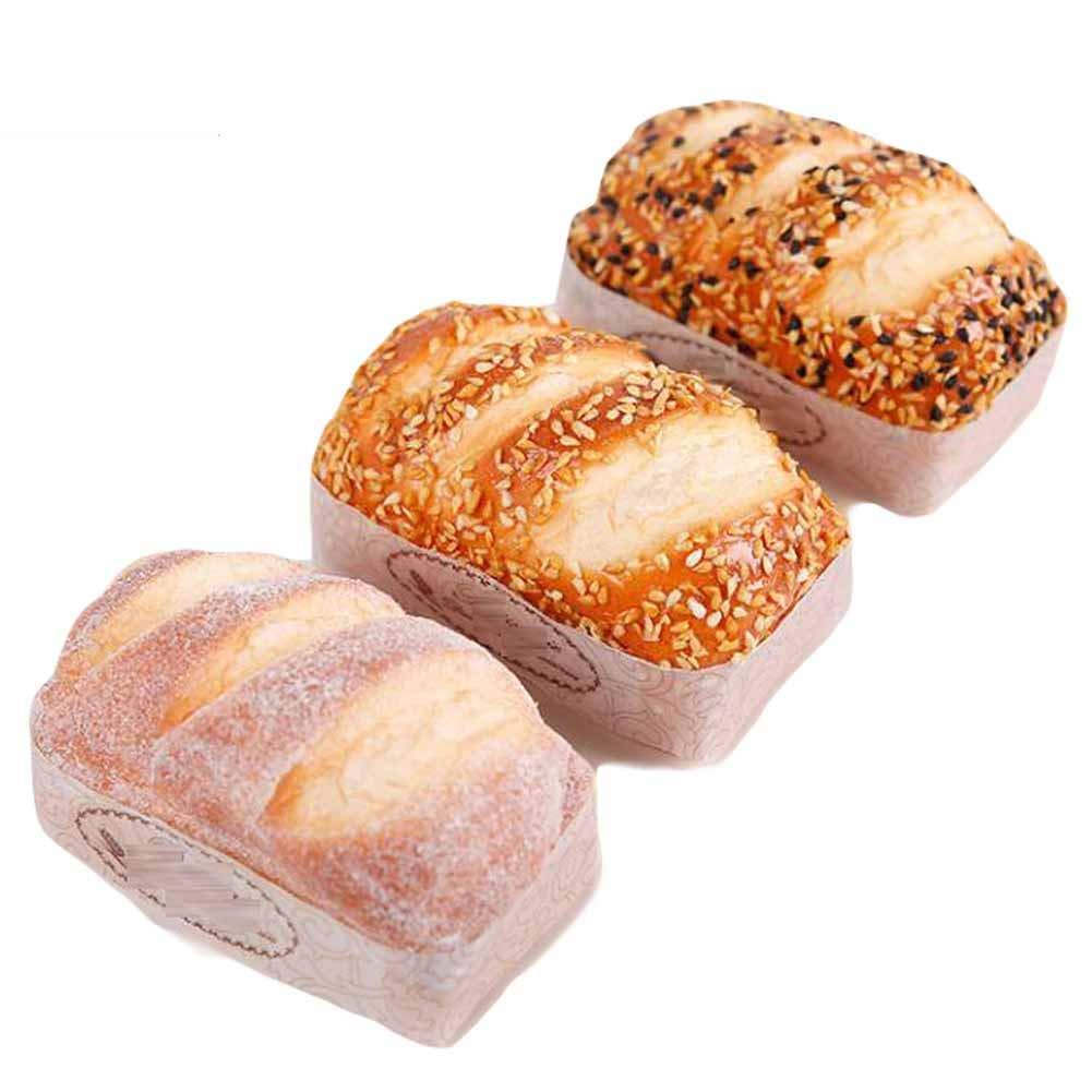 Panda Legends 3 Pcs Bakery Artificial Bread Simulation Cake Fake Food Decoration Model