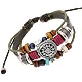 OYEFLY Vintage Bohemia Beaded Bracelet, Multilayer Hand Woven Wristbands, Hemp Cords Wrap Bracelet Jewelry for Men and Women