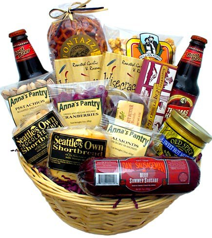 Snack Attack Gift Basket (Wine Gift Baskets Seattle)