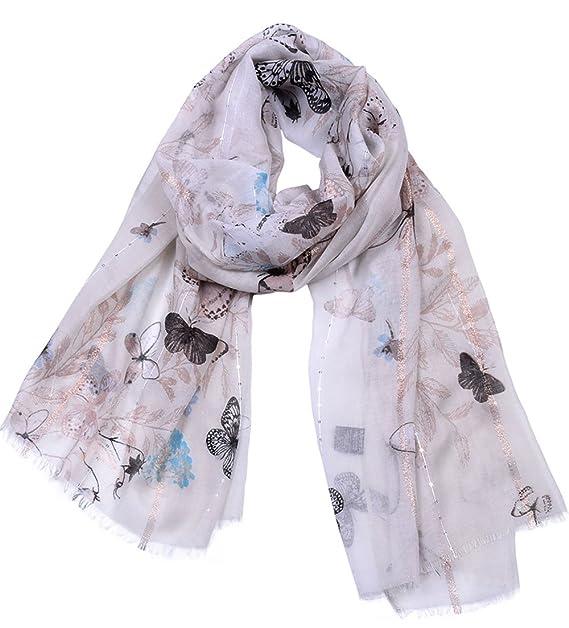 Blansdi Femme Écharpes Coton et lin scarf Mariage Party Elégante Tulle Châle  Long Wrap Été Plage 934da265368