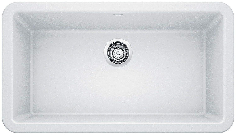 Blanco 401899 Ikon Granite 0-Hole Undermount Apron Front/Farmhouse Single  Bowl Kitchen Sink, 25\