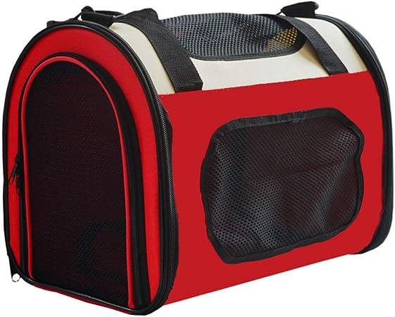 Mochila para Mascotas Estuche Plegable para Llevar Saliente Bolsos De Hombro Bolso Bolsas para Perros Gato Jaula (Color : Red, Size : M): Amazon.es: Hogar