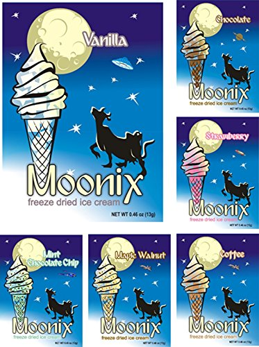 Moonix Freeze Dried Ice Cream. Variety pack. 10ct (Best - Cream Freeze Ice Dried