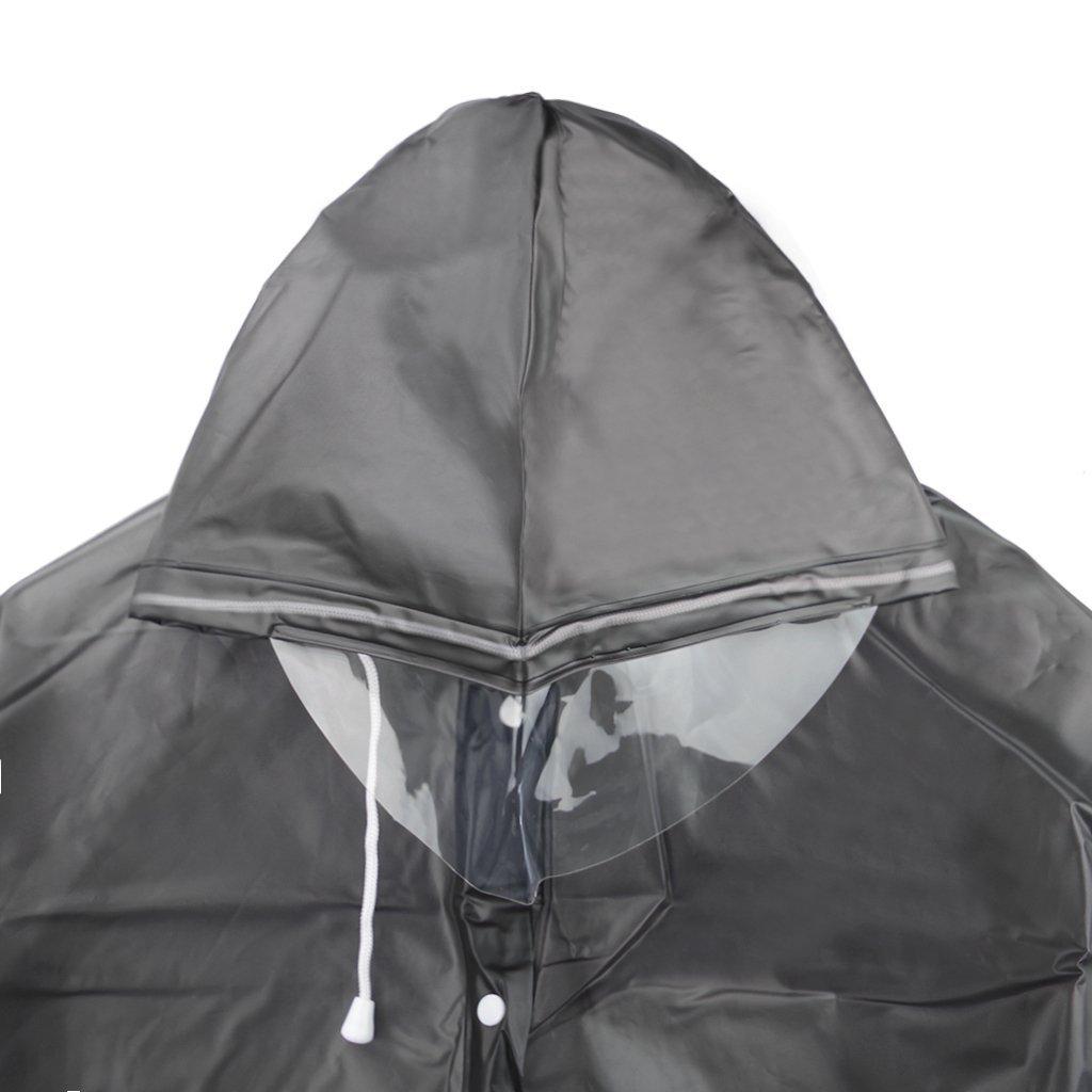 Jetai Mantella Leggera e Portatile per la Pioggia Poncho Impermeabile Trasparente da Donna