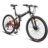دراجة أطفال ZFDMDD دراجة هوائية للجبال للبالغين قابلة للطي سيدة ولد طالب طريق سيارة سرعة الجبل دراجة (اللون: أبيض، الحجم…
