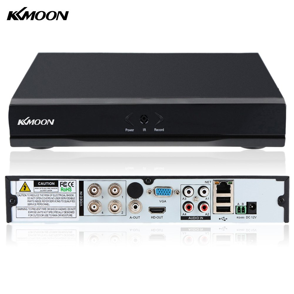 KKmoon 4CH Full 1080N CCTV DVR Recorder P2P Cloud Remote Digital Video Recorder Security Camera Surveillance System