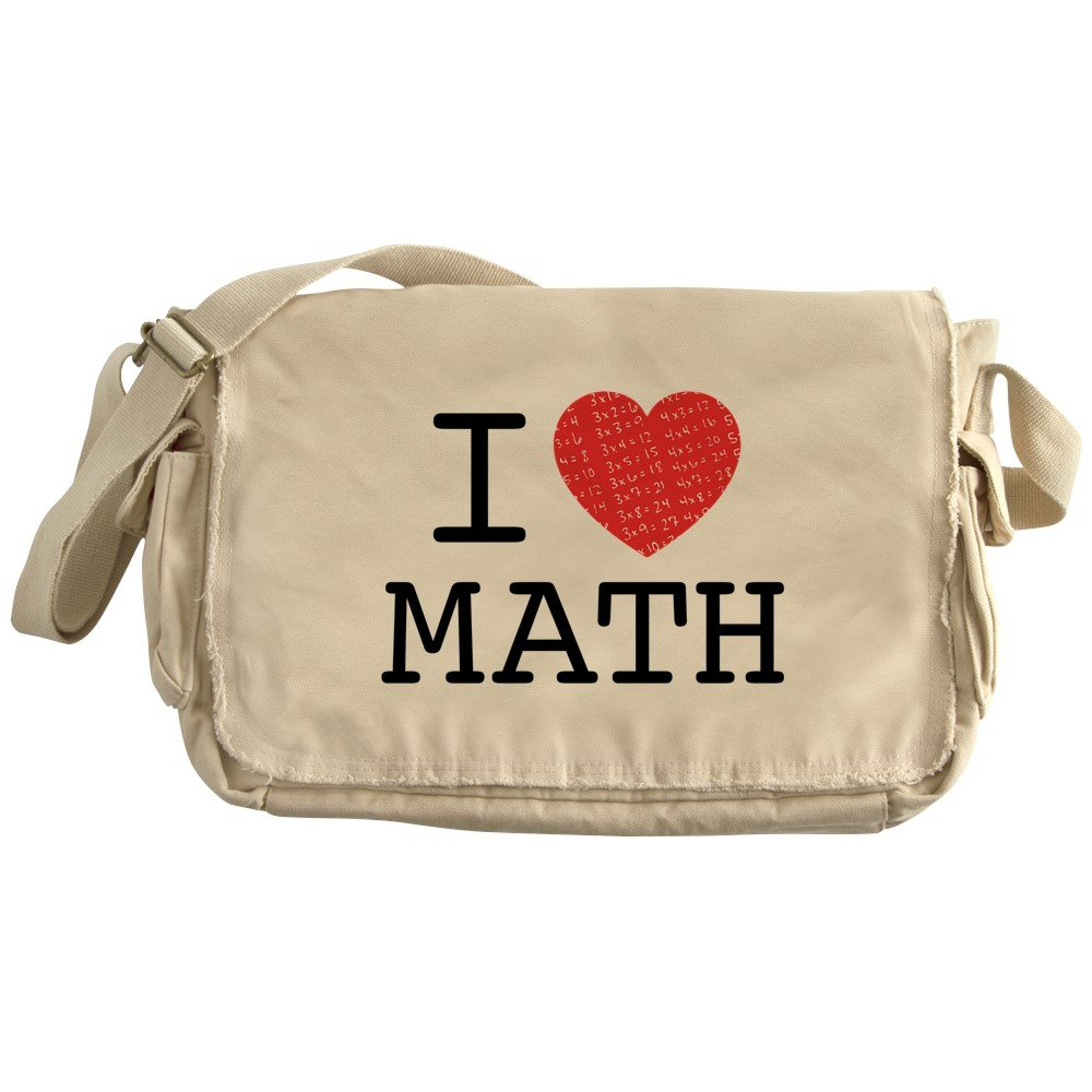 CafePress - I Heart Math - Unique Messenger Bag, Canvas Courier Bag