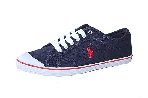 Polo Ralph Lauren - Tobillo bajo Mujer, Color Azul, Talla 36.5: Amazon.es: Zapatos y complementos