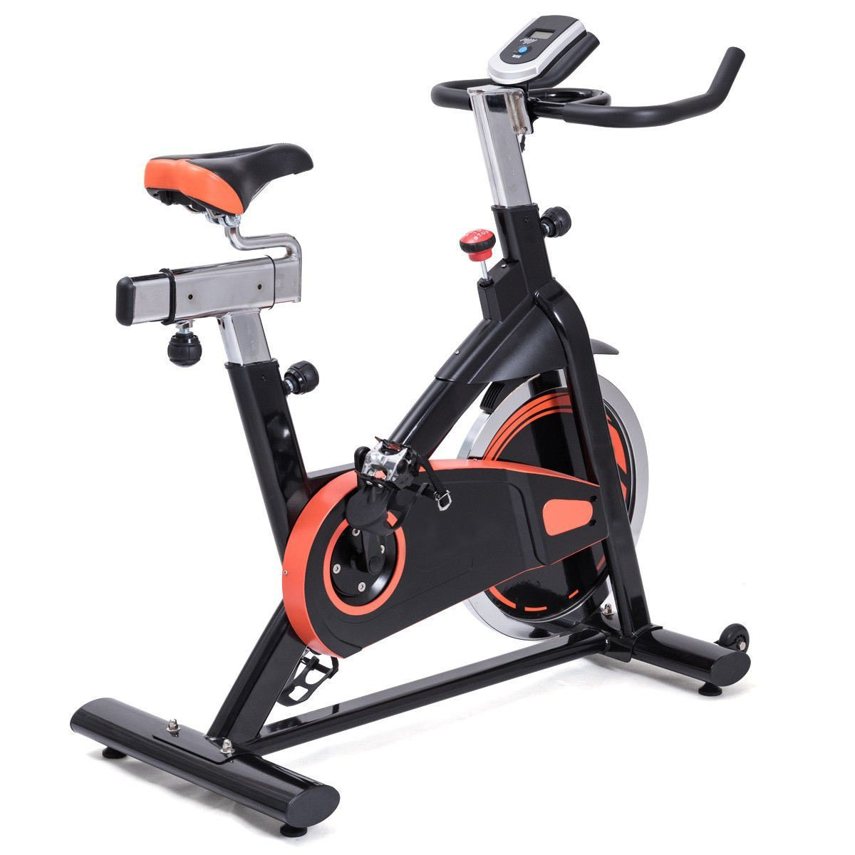 Globe House Products GHP Home/Outdoor Heavy Duty Solid Flywheel Exercise Training Bike w LCD Display
