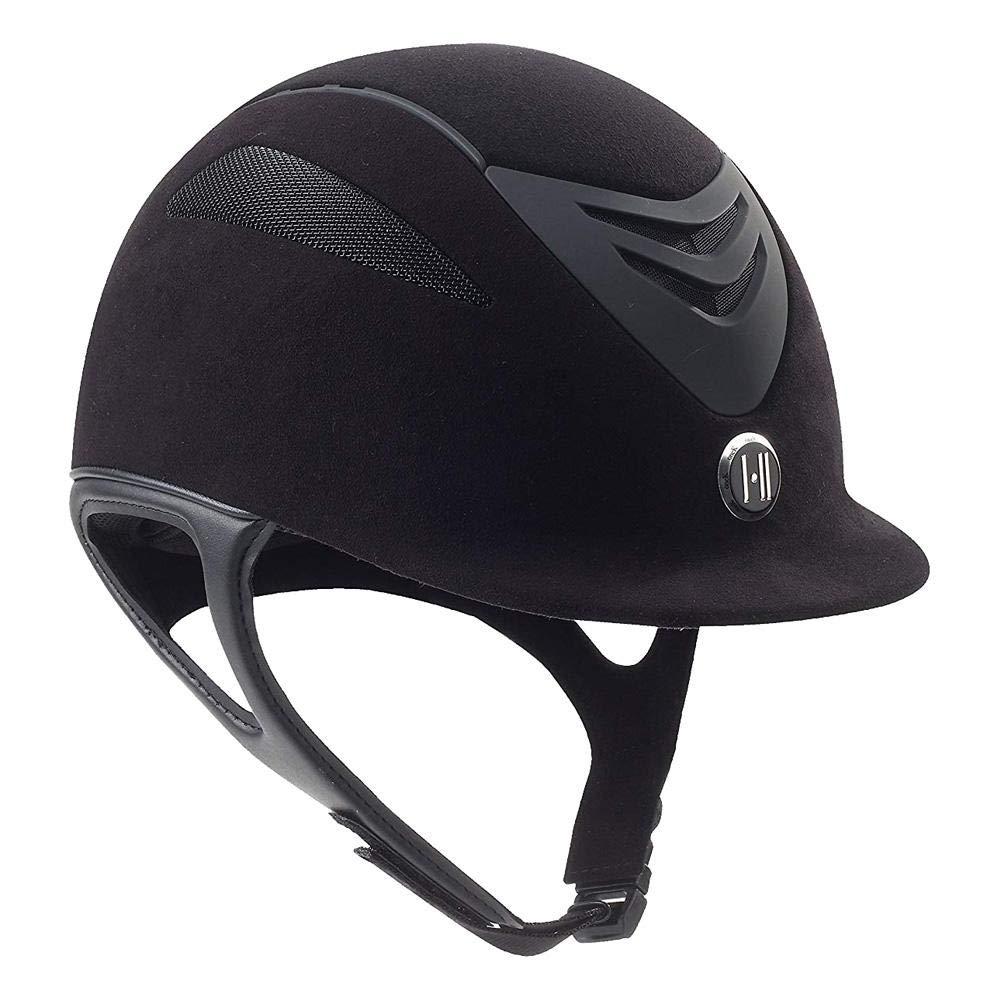 One K Defender Air Suede Black Matte Horse Riding Helmet, Small