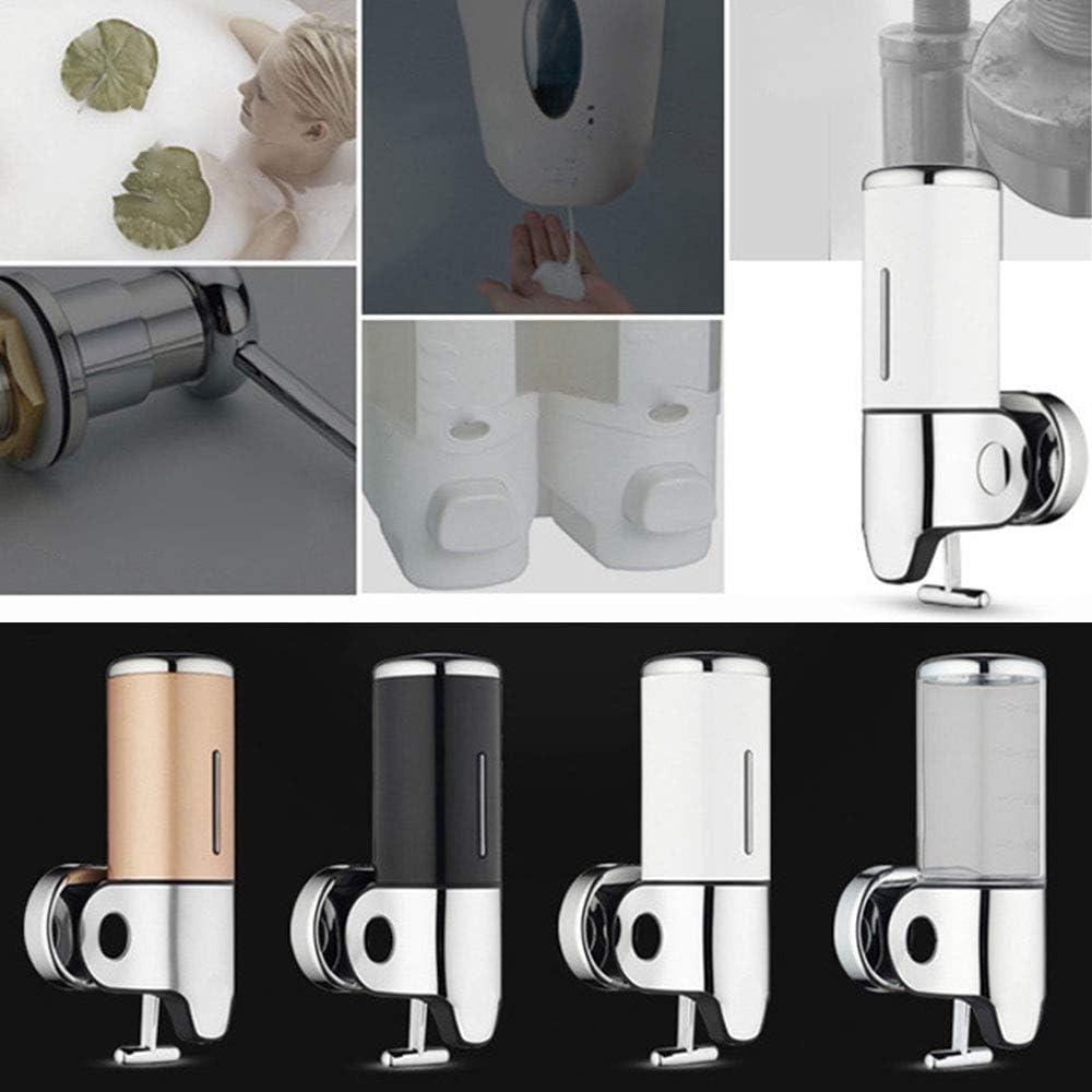 Ideal como regalo para cocina ba/ño y ducha belupai Dispensador de jab/ón l/íquido montado en la pared Dispensador de gel de champ/ú con jab/ón l/íquido de acero inoxidable 500ML