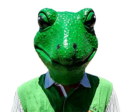 Frog Mask Latex Realistic Funny Halloween Animal Costume Cosplay Headgear (One Average Size)  sc 1 st  Amazon.com & Amazon.com: Frog Mask Latex Realistic Funny Halloween Animal ...