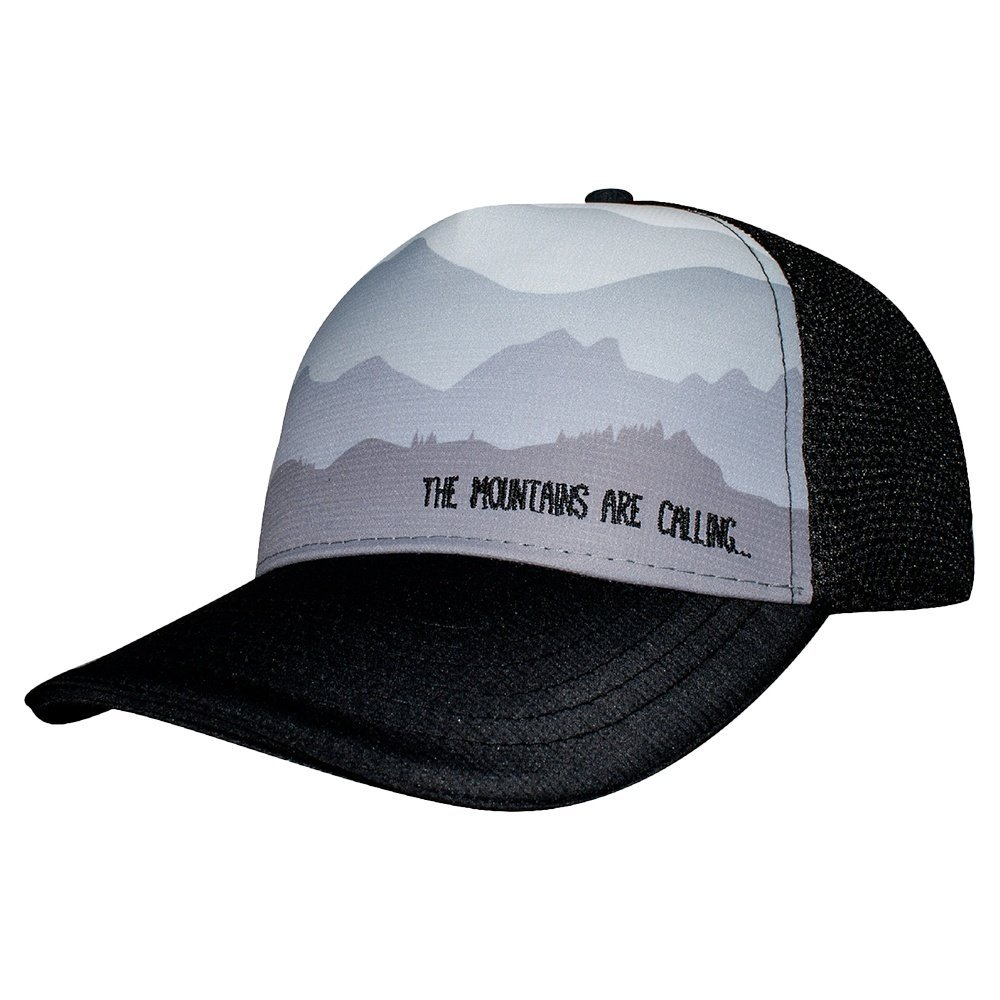1d65f72cb7cdd1 Amazon.com: Headsweats Misty Morning 5 Panel Trucker Hat, Black, One Size:  Sports & Outdoors