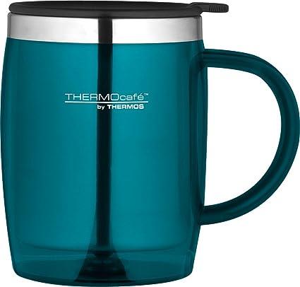 962878c29f1 Thermos ThermoCafé Translucent Desk Mug, Lagoon, 450 ml: Amazon.co.uk:  Kitchen & Home