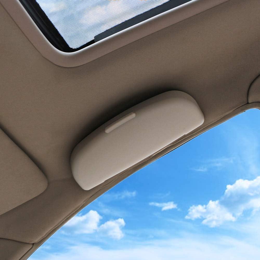 Sonnenbrillenhalter Box Brillen Aufbewahrungsbox Cas F/ür Peugeot 206 207 208 307 308 408 508 2008 301 3008 DYBANP Auto Sonnenbrillenhalter