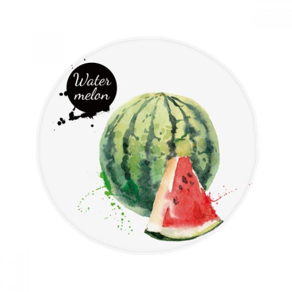 60X60cm DIYthinker Watermelon Fruit Tasty Healthy Watercolor Anti-Slip Floor Pet Mat Round Bathroom Living Room Kitchen Door 60 50Cm Gift