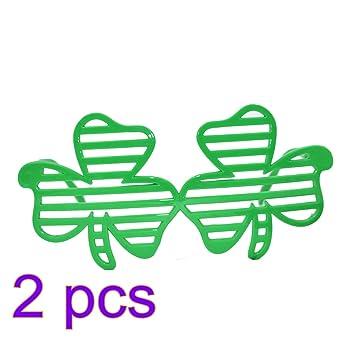 12x Grün shamrock geformtes ST PATRICKS DAY KINDER KINDER Sonnenbrille 5y0Hlsvjob