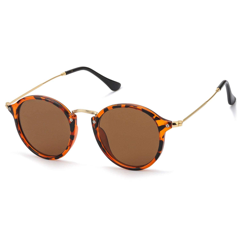 Polarizzati Occhiali da Sole Rotondi Vintage Protezione al 100% Contro i Dannosi Raggi UVA/UVB