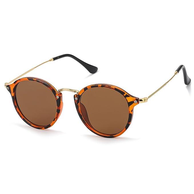 Redondas Retro Polarizadas Gafas de Sol Hombre Con Gafas de Sol Para Conducir Viajes Playa,