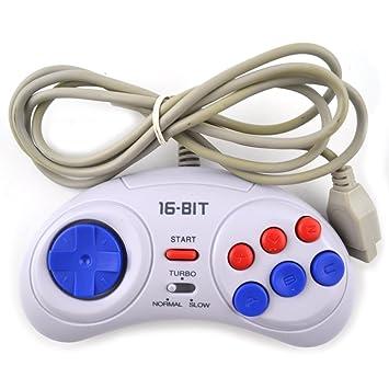 KHFFJ 2Pcs De Juego para Sega para Manejar 16 bits Gamepad para MD Accesorios del Juego