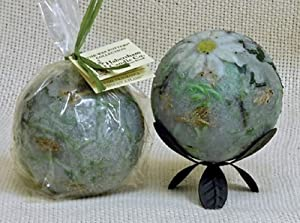 "Habersham Lavender and Chamomile Wax Pottery Home Fragrance (4"" Sphere with Stand)"