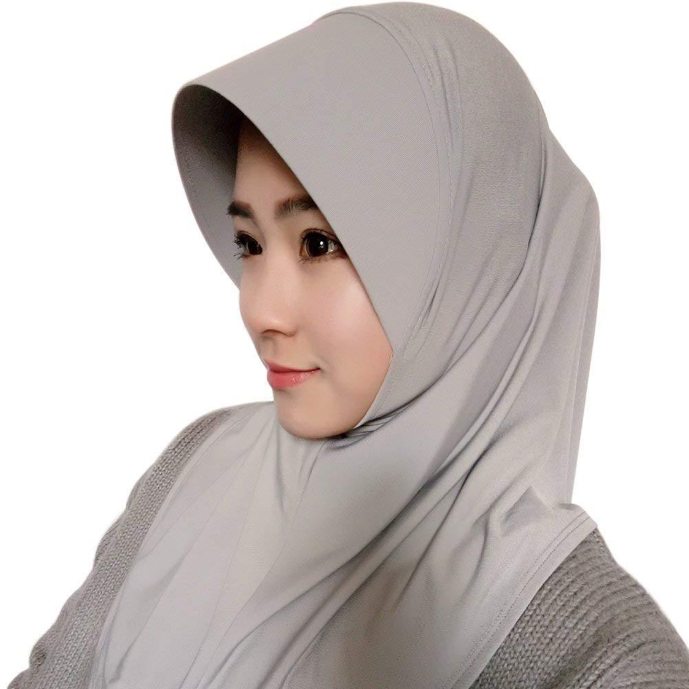 Elodiey Bufanda De Bufanda Lista Mujer Hijab De Para Años 20 Mujer Casquillo De Hijabs De Color Sólido Bufandas De Hijab Abrigo De Mujer Turban Hijab: ...