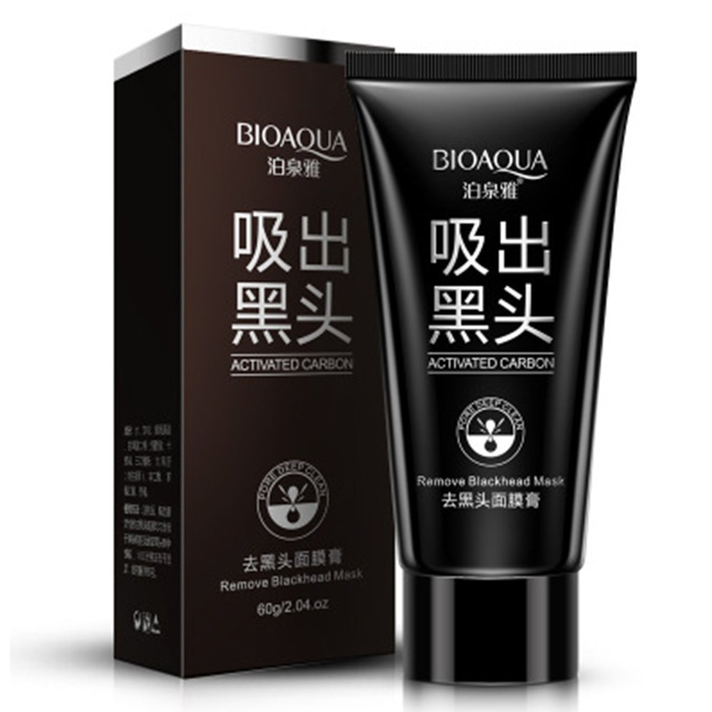 BioAqua Blackhead remover mask - Bamboo Charcoal Peel Off Face Mask - Bamboo Removal Cream For Nose - Anti Pore Acne remover - Strips and Cleanses the Dirt out of the Pores