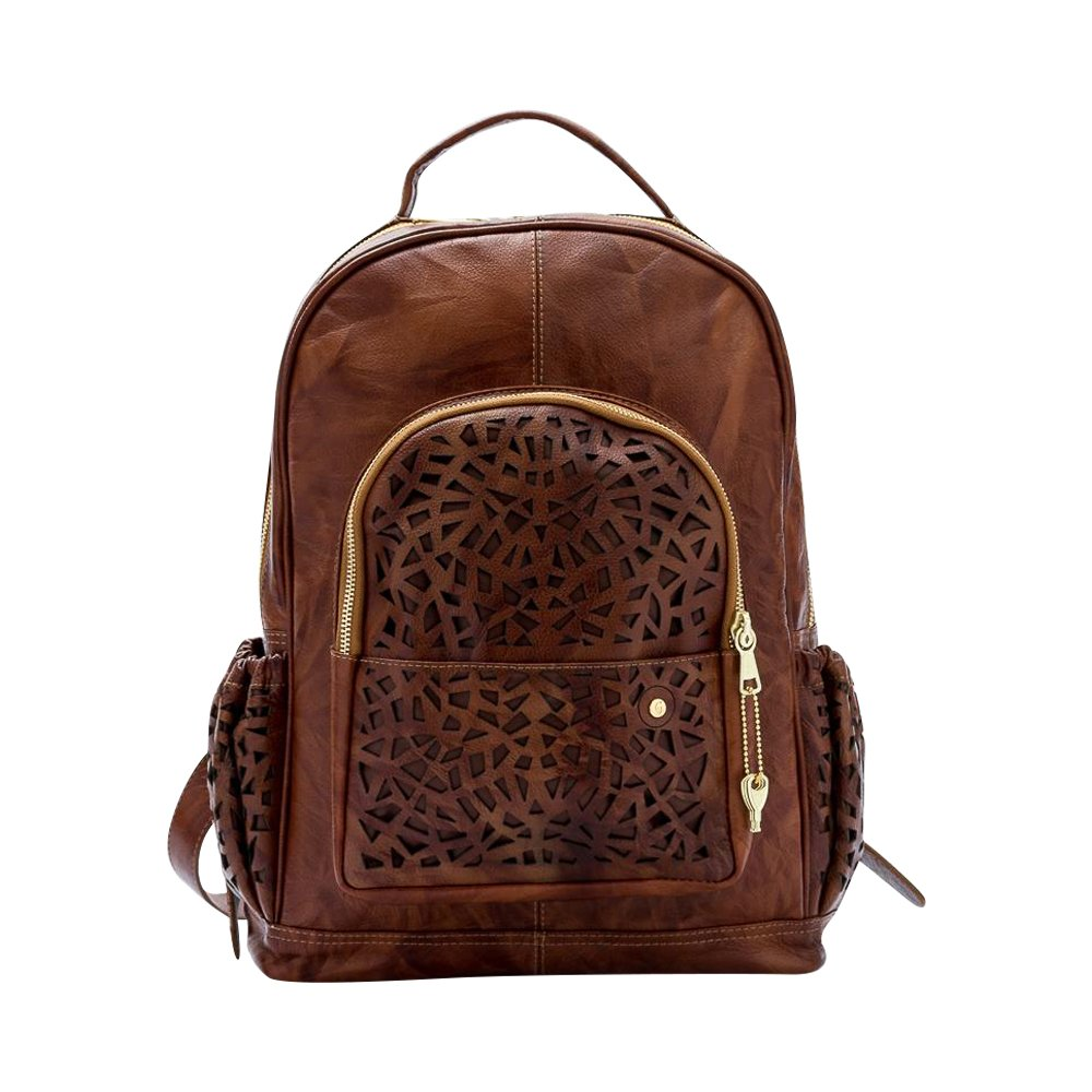 Gaspy Alex Women's Backpack (Honey) - Handmade from 100 Percent Genuine Colombian Leather