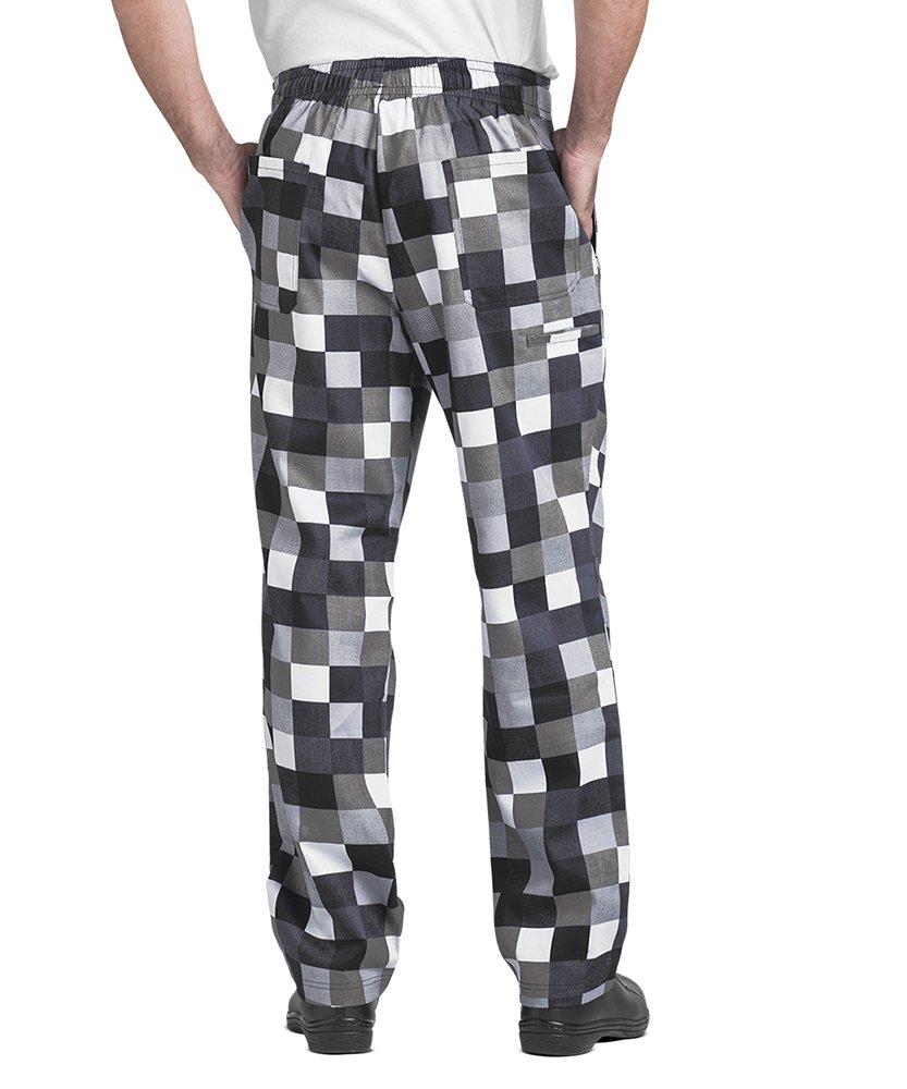 Men's Checkerboard Print Chef Pant (XS-3X) (Medium) by ChefUniforms.com (Image #2)