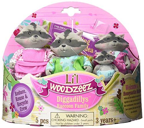 Li'l Woodzeez Diggadillys Family 4-Piece Storytime Play Set with Storybook