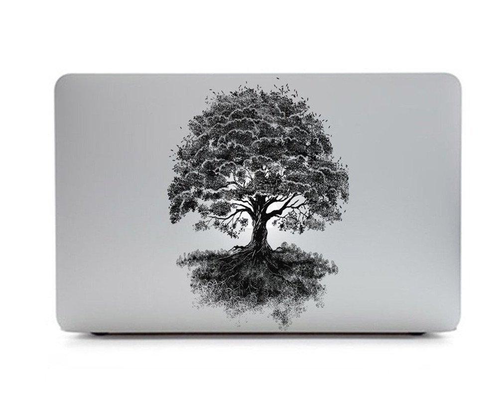 Sticker Adhesivos para Macbook /Árbol Coloreado B Desprendibles Creativo Color /Árboles Flores Chica Joven Dibujos Animados Art Calcoman/ía Pegatina para MacBook Pro//Air 13 Pulgadas Port/átil