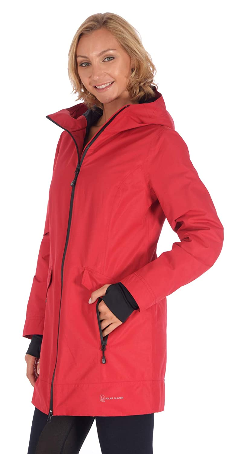 Polar Glacier Woman's Waterproof Insulated Hooded Jacket