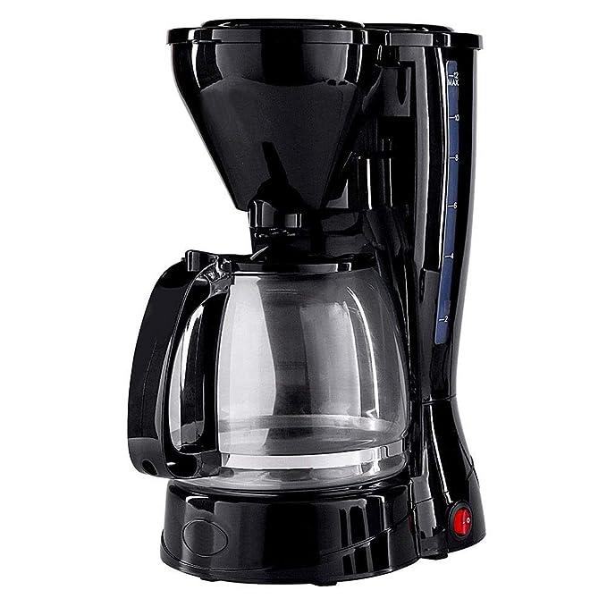 Cafetera profesional de viaje pequeña, máquina de espresso compacta con bomba de goteo pequeña, filtro permanente, fácil de limpiar y medir con lata de vidrio, función antigoteo: Amazon.es: Hogar