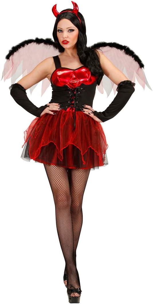 Disfraz de DIABLESA sexy disfraz de demonio interior rojo-negro M ...