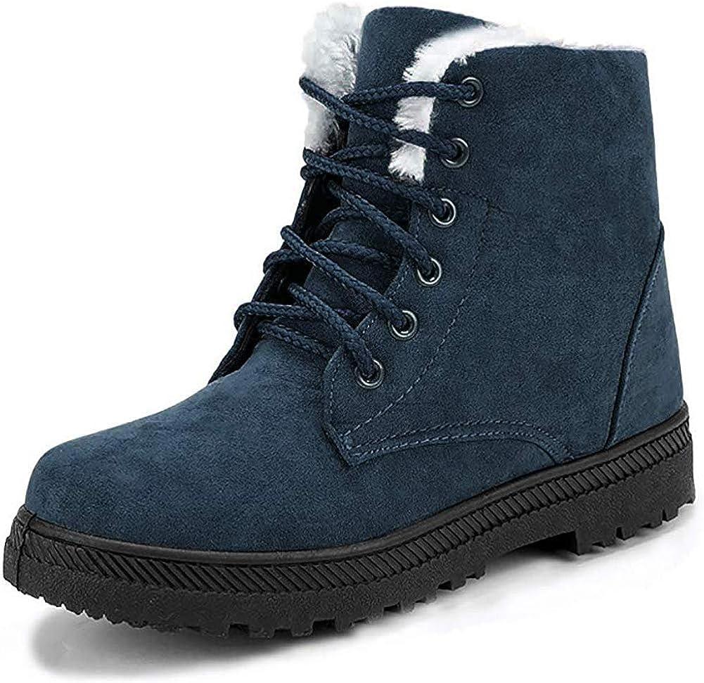 Details about  /Winter Women Rabbit Fur Suede  Mid Calf Boots Platform Hidden Heel Snow boots sz