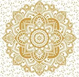 Exclusive Orignal Gold Ombre Tapestry Ombre Bedding , Mandala Tapestry, Queen Indian Mandala Wall Art Hippie Wall Hanging Bohemian Bedspread