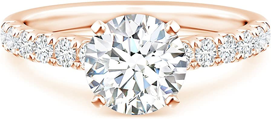14k White Gold Classic Small Double Heart Ring Lab Created CZ Crystals