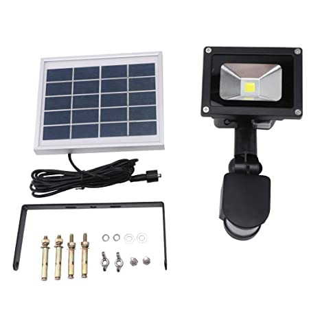 10 W de energía solar Led Floodlight lámpara de césped Sensor PIR Sensor de movimiento Wireless